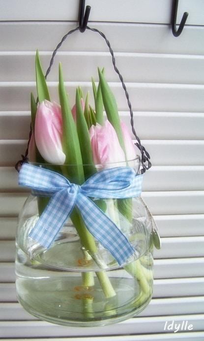 ρουστίκ_πασχαλινό διακοσμητικό_με_λουλούδια_