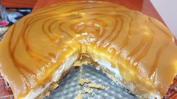 Cheesecake καραμέλα χωρίς ψήσιμο_