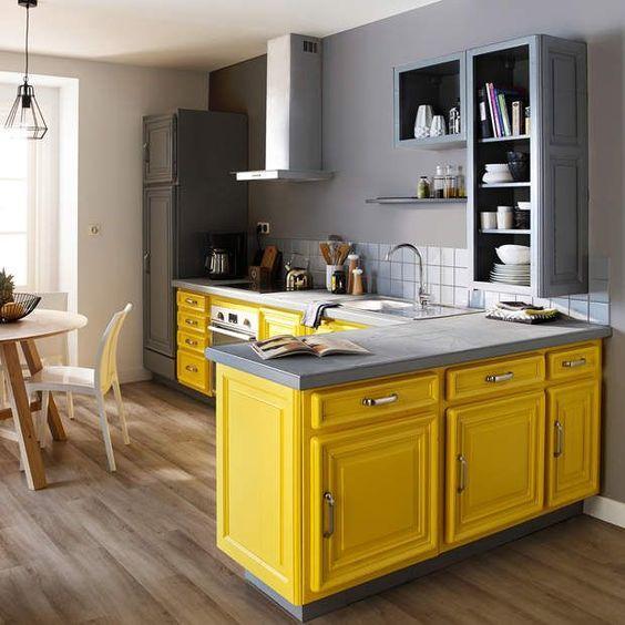 κίτρινα_vintage_ντουλάπια_κουζίνας_