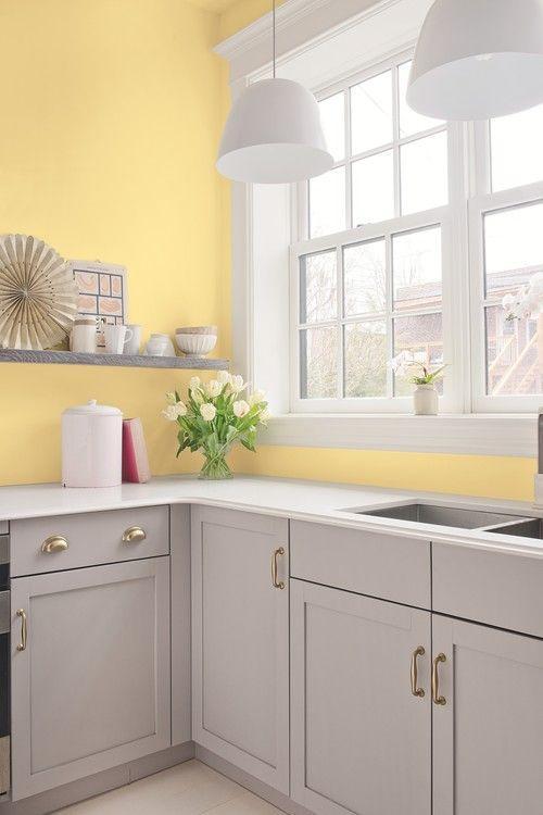 κίτρινο_και_γκρι_παστέλ χρώμα_στην_κουζίνα_