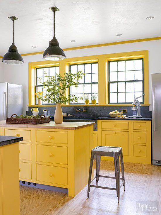 γκρι_και_κίτρινο_χρώμα_στην_κουζίνα_διακόσμηση_