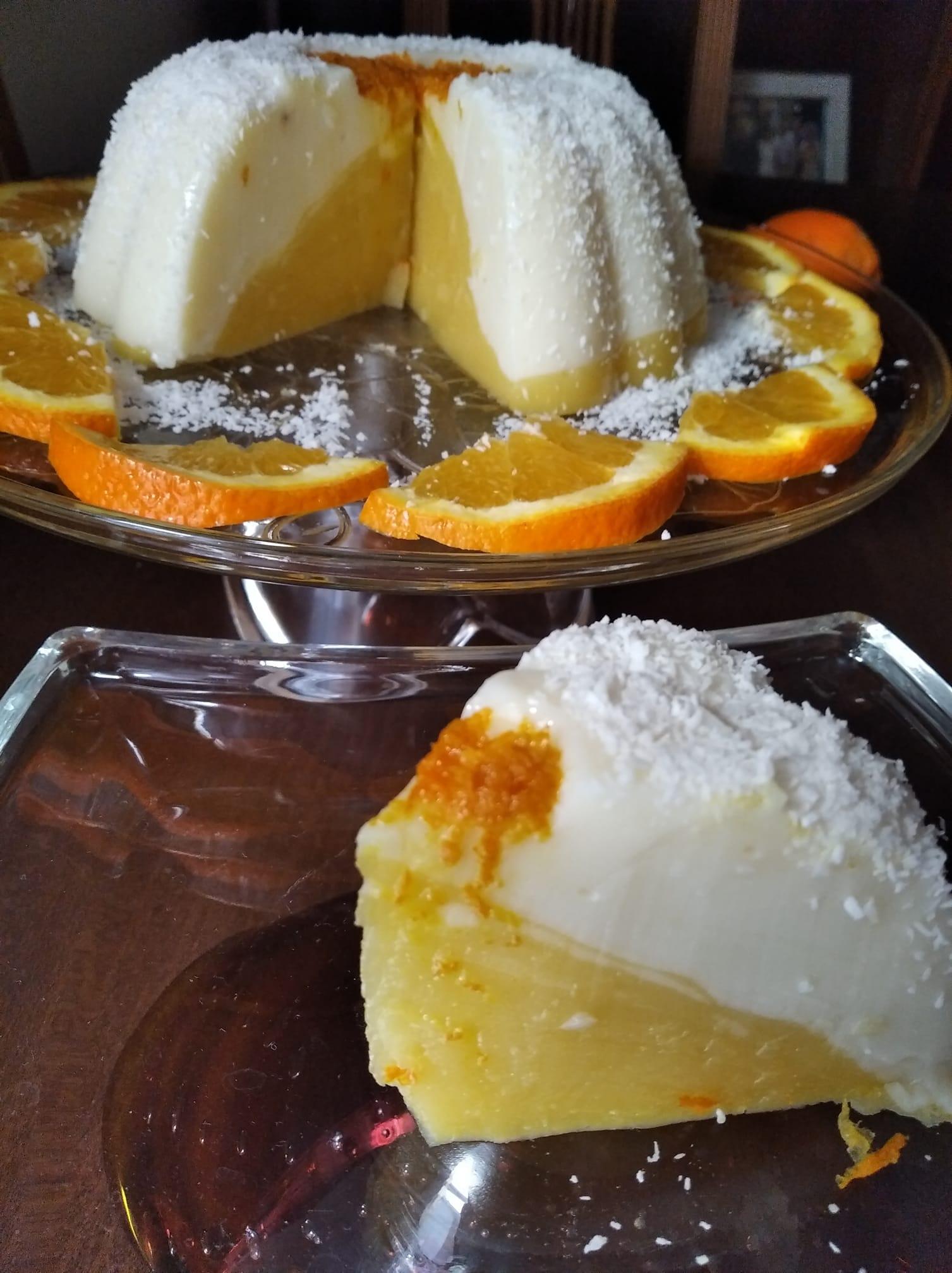 Δίχρωμη_ κρέμα_ σε _φόρμα_ πορτοκάλι-βανίλια_