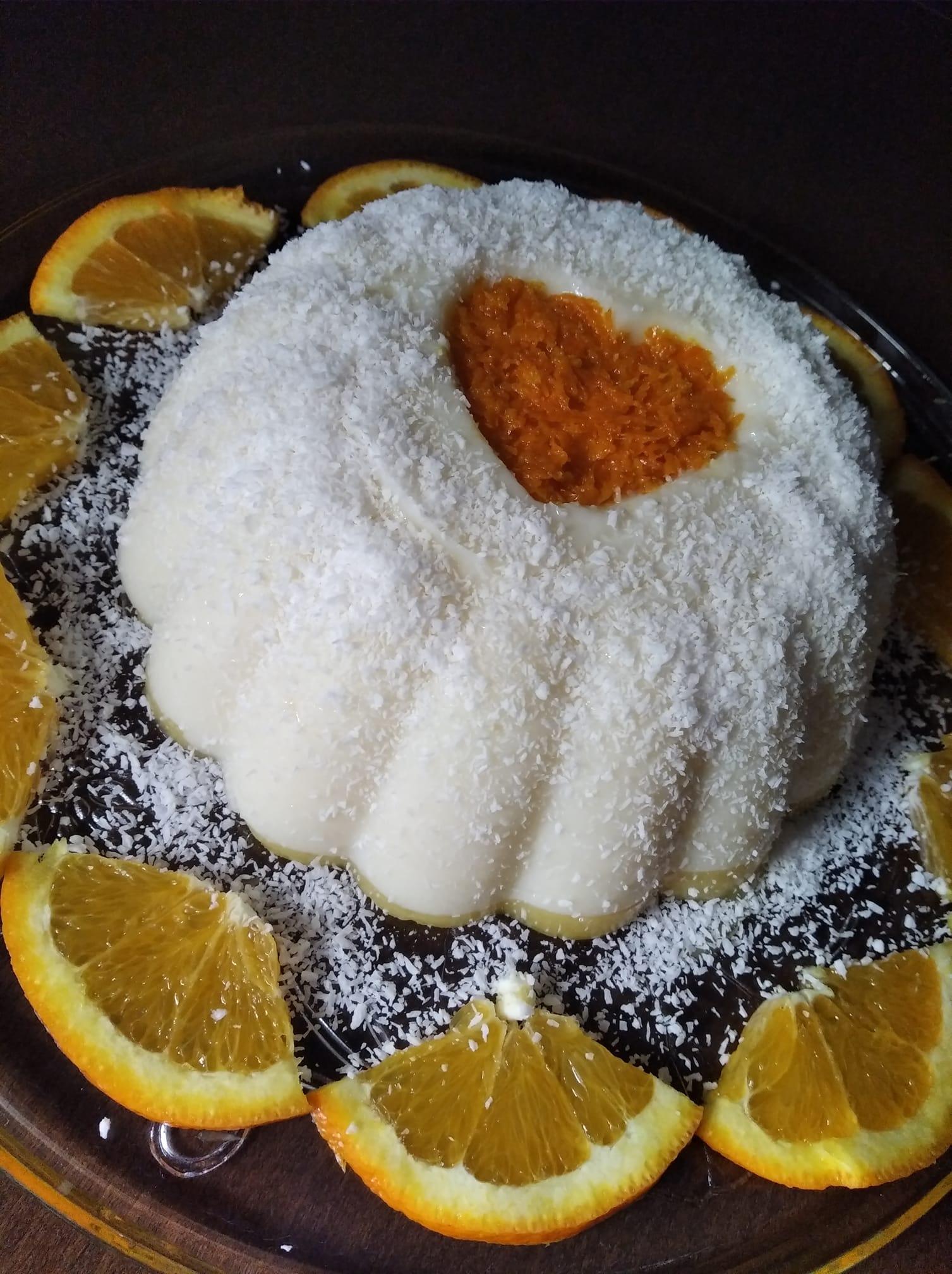 Δίχρωμη_ κρέμα_ σε _φόρμα_ πορτοκάλι-βανίλια_ Συνταγή_