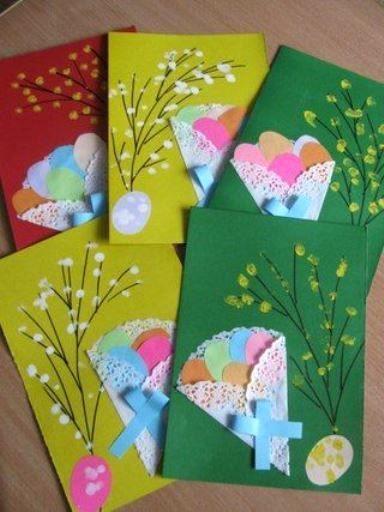 πασχαλινή κάρτα_με_λουλούδια_