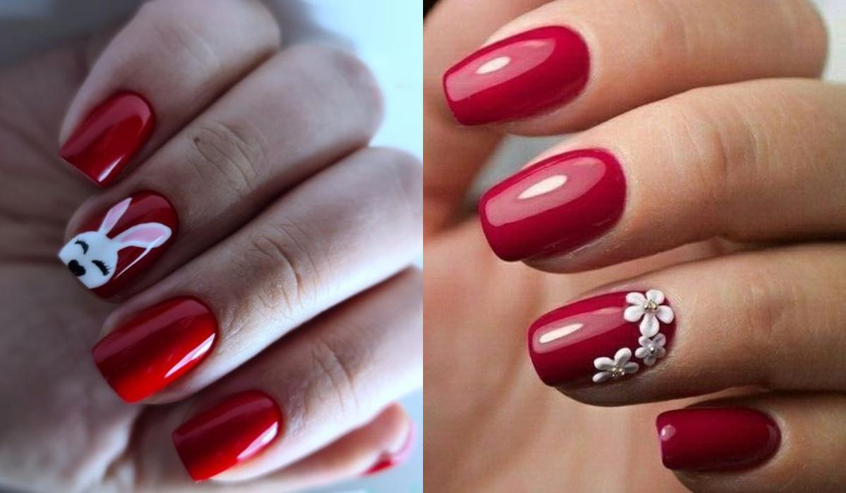 15 ιδέες για κόκκινα νύχια το Πάσχα_