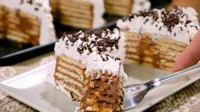 Γλυκό ψυγείου με πραλίνα σοκολάτας _