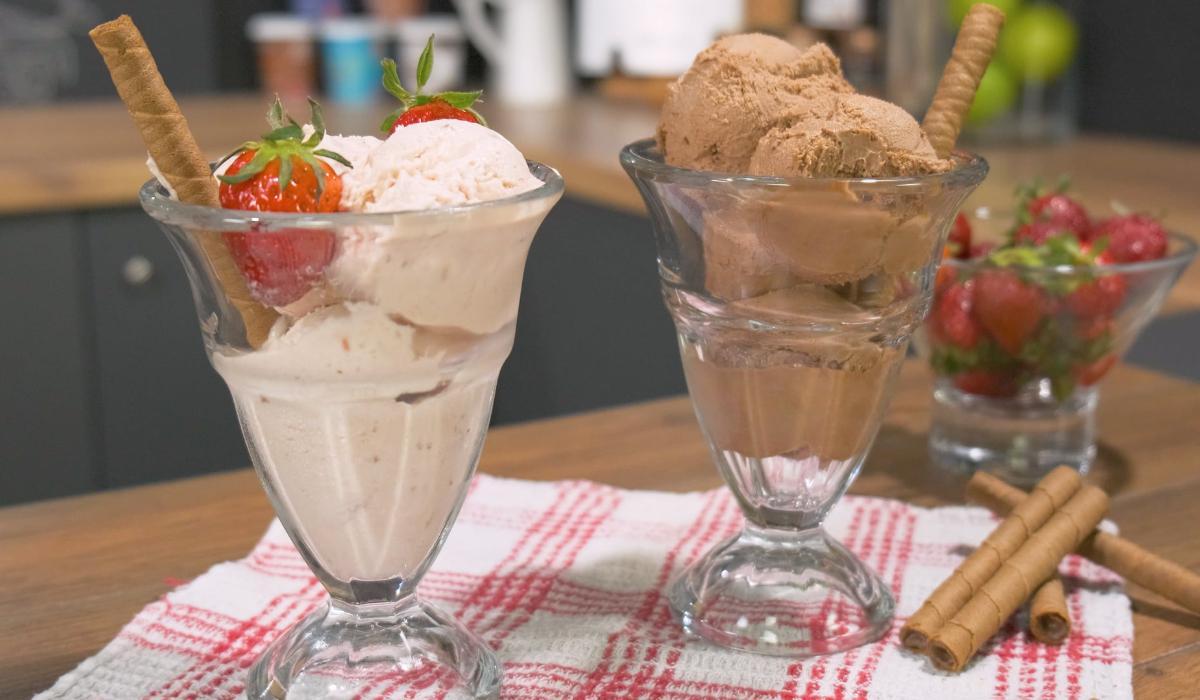 Παγωτό χωρίς ζάχαρη με μόνο 2 υλικά_