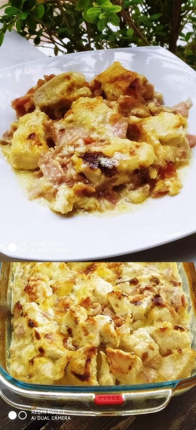 Κοτόπουλο_ αλά_ κρεμ _στο _φούρνο_