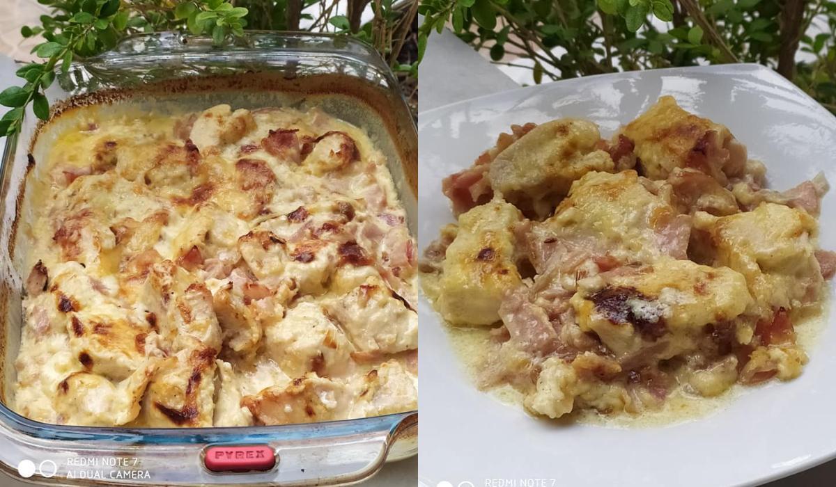 Κοτόπουλο αλά κρεμ στο φούρνο_