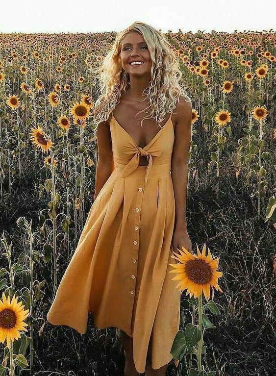 κίτρινο_σατέν_φόρεμα_