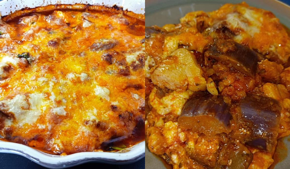 Μελιτζάνες με κοτόπουλο στο φούρνο σαν σουφλέ_