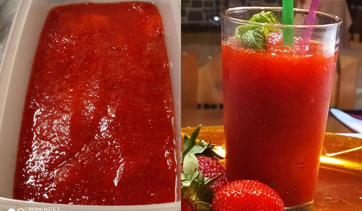 Σπιτικέ γρανίτα φράουλα _