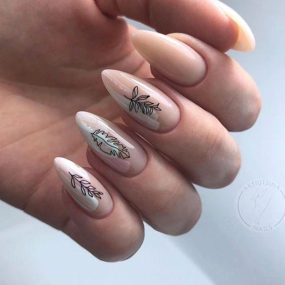 nude_νύχια_με_λουλούδια_