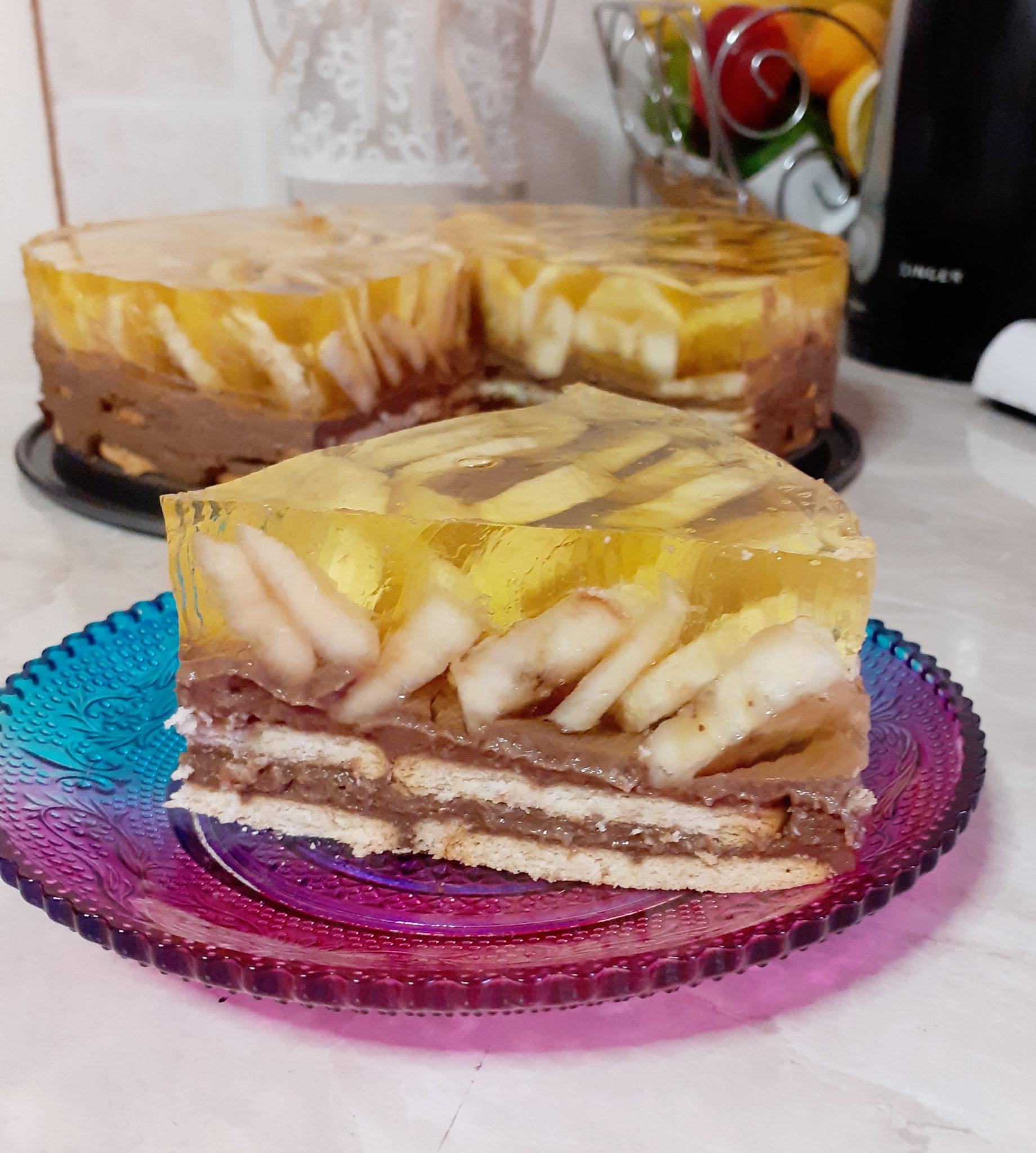 Δροσερό_ μπισκότογλυκο_ με _μπανάνα_ και_ σοκολάτα_