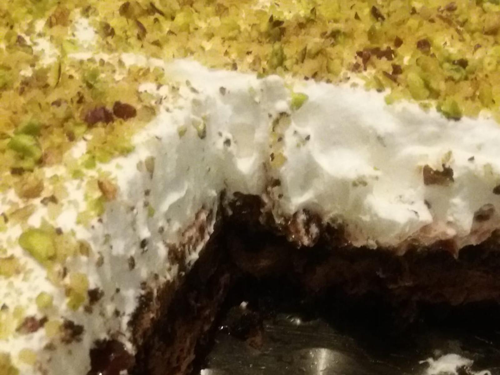 Εκμέκ με βάση κέικ σοκολάτας