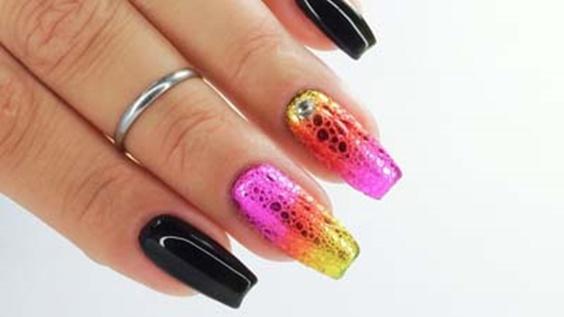 _bubble nails_σχέδια