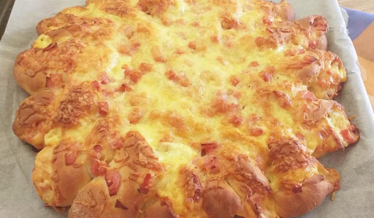 Salami_fluffy_bread_συνταγή_