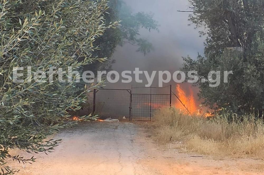 Κηφισιά: Η φωτιά καίει αυλές σπιτιών