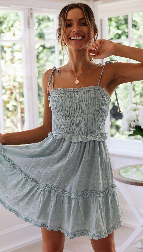 πετρόλ_καλοκαιρινό_φόρεμα_