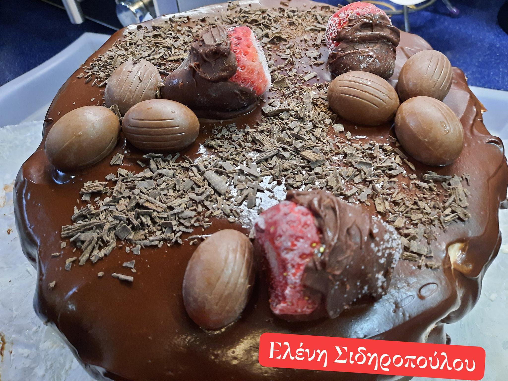 Σοκολατένιο -παγωτό- με- γκανάζ- σοκολάτας-