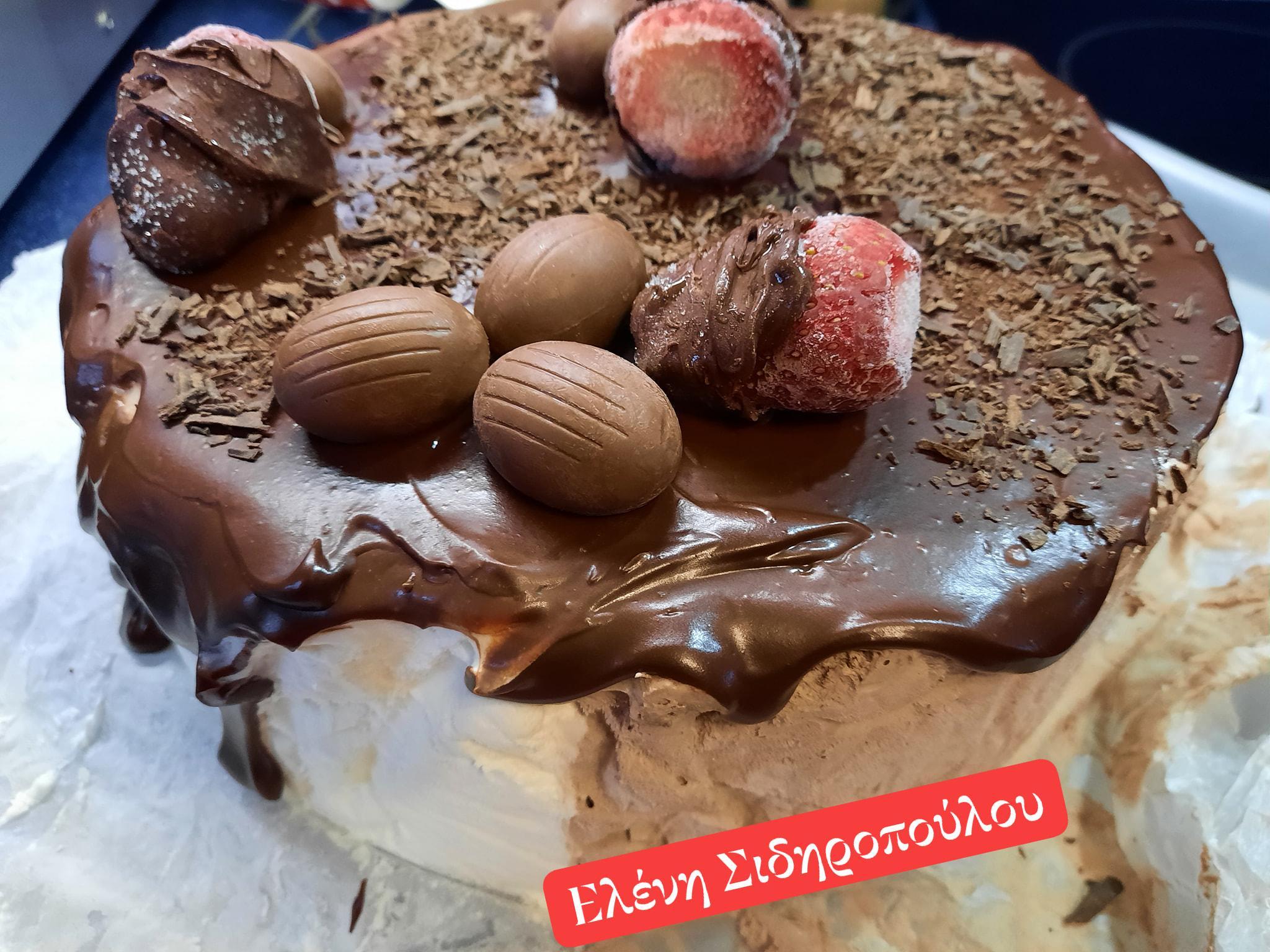 Σοκολατένιο -παγωτό- με- γκανάζ- σοκολάτας-Συνταγή-