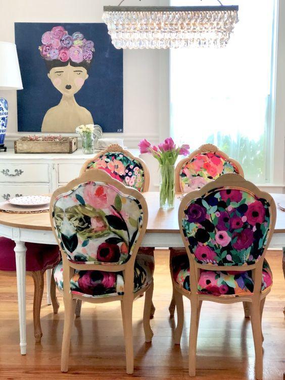 φλοράλ_καρέκλες τραπεζαρίας_
