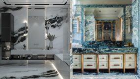 Μάρμαρο στο μπάνιο: 15 ιδέες διακόσμησης_
