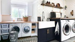Πλυντήριο μαζί με στεγνωτήριο: 15 ιδέες οργάνωσης _