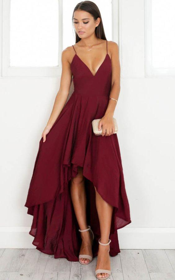 μπορντό_επίσημο_φόρεμα_
