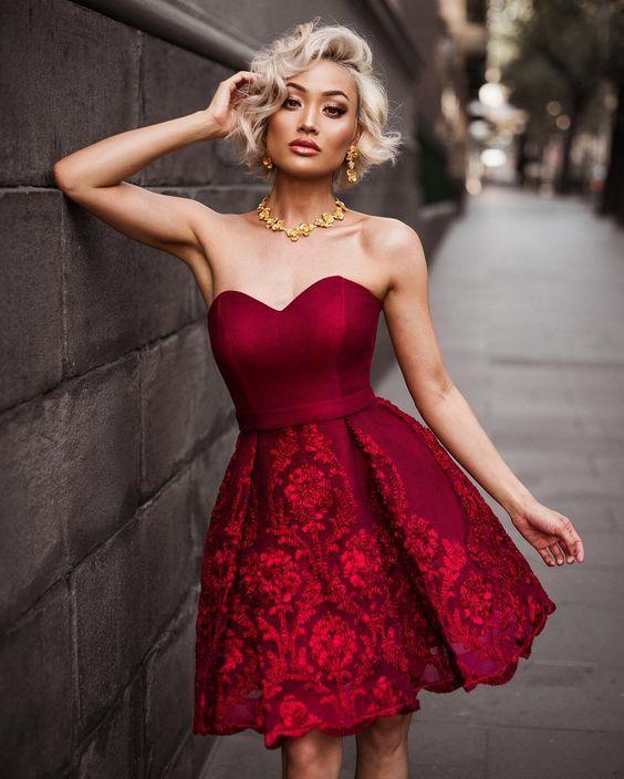 μπορντό_μίνι_φόρεμα_