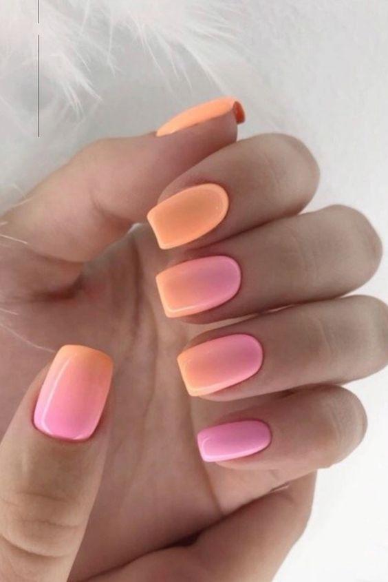 πορτοκαλί_νύχια_με_ροζ_σχέδια_