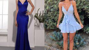 Επίσημα μπλε φορέματα: 15 ιδέες για το Καλοκαίρι του 2021_