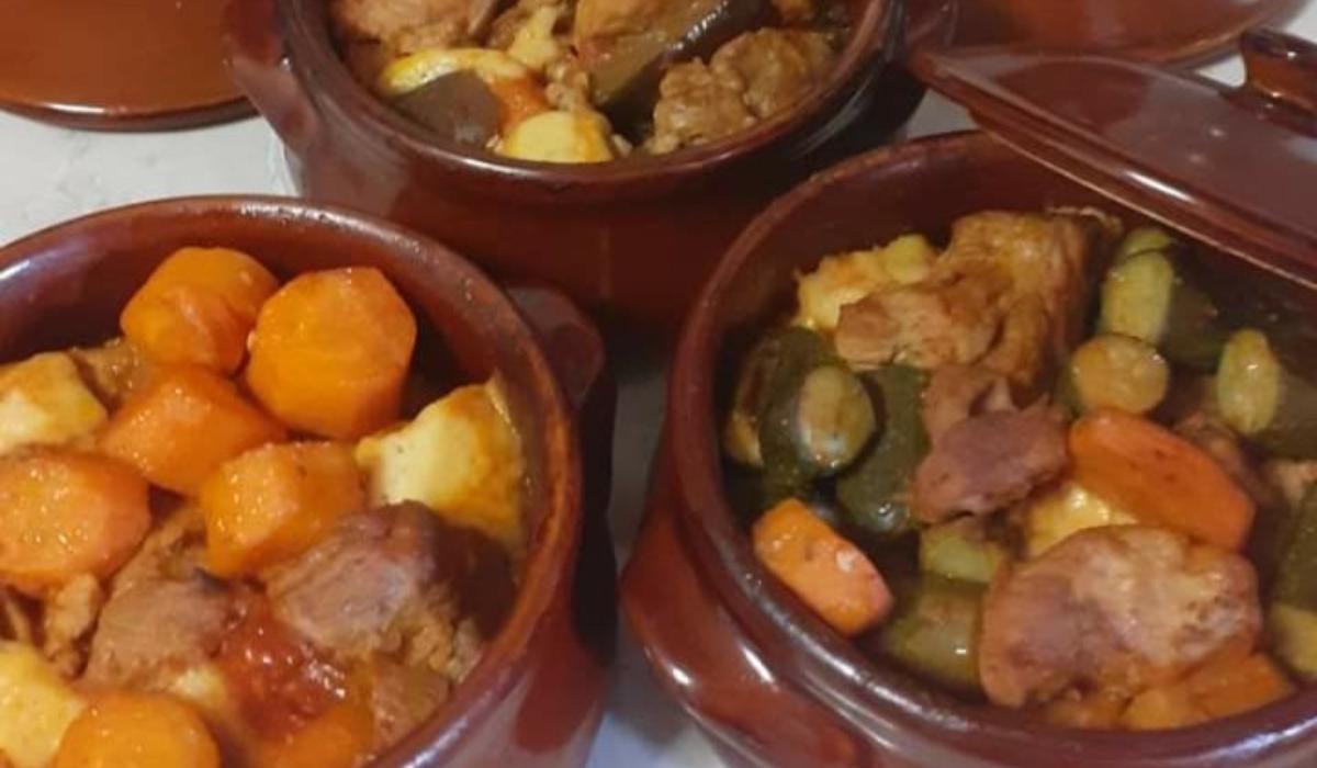 Χοιρινές μπουκιές με λαχανικά στο πήλινο_