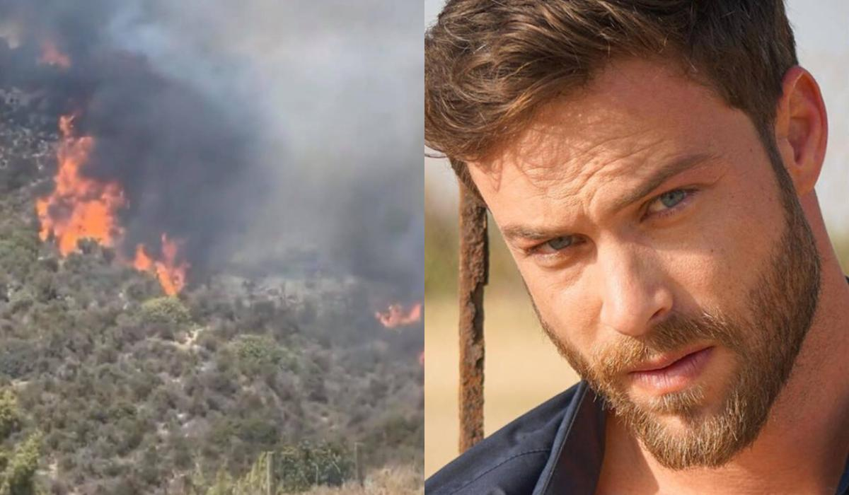Στέφανος Μιχαήλ: Για άλλη μια φορά ο ηθοποιός ρίχτηκε στη μάχη με τις φλόγες
