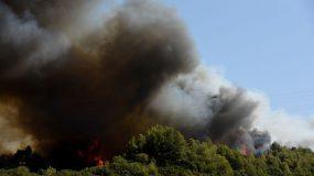 Φωτια στη Βαρυμπόμπη: Έκλεισε η Εθνική προς Λαμία- Εκκενώνονται ο Άγιος Στέφανος και βιομηχανίες