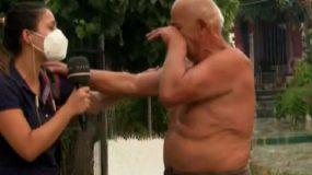 Ανατριχιαστική στιγμή στην Εύβοια: Ρεπόρτερ του Open και ηλικιωμένος ξεσπούν σε κλάματα αγκαλιασμένοι