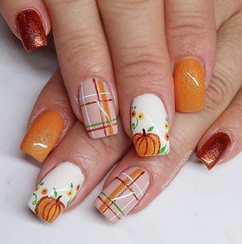 καφέ_πορτοκαλί_νύχια_