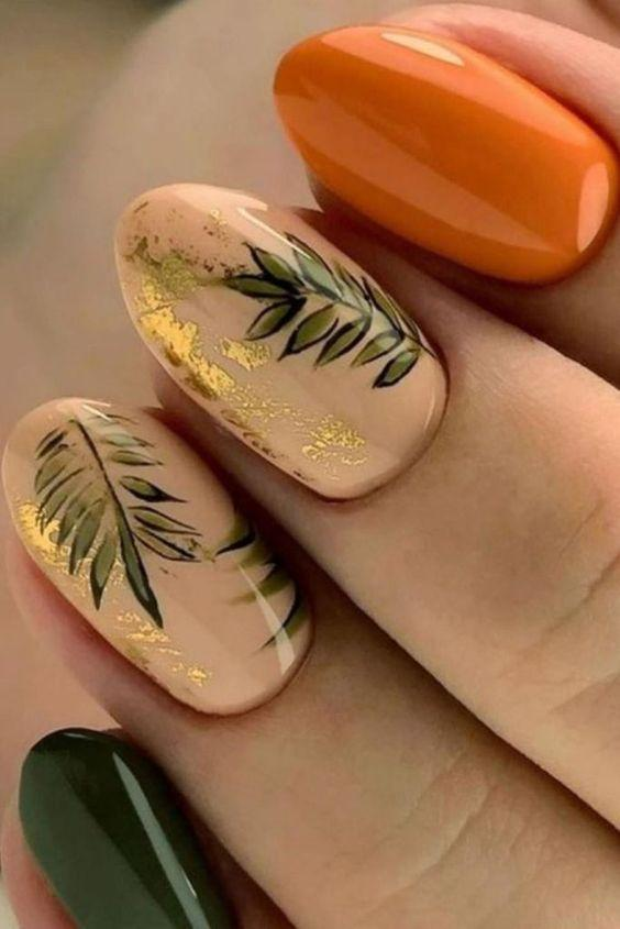 πορτοκαλί_και_πράσινο_στα_νύχια_