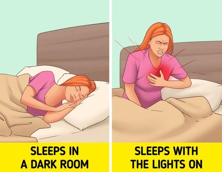 πως-επηρεάζει-την-υγεία-ο-ύπνος-με-αναμμένα φώτα-