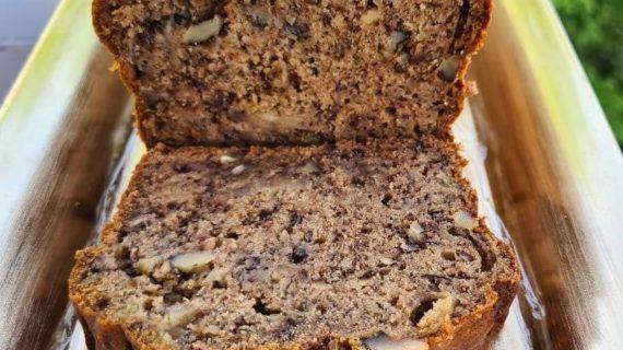 Υγιεινό -κέικ- με- αλεύρι -ολικής -και- καρύδια-