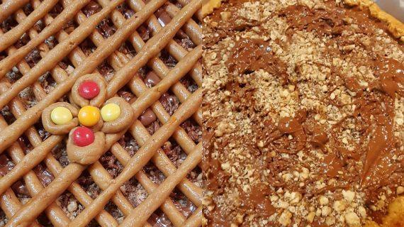 Σοκολατένια- πάστα- φλώρα- με- καρύδια-