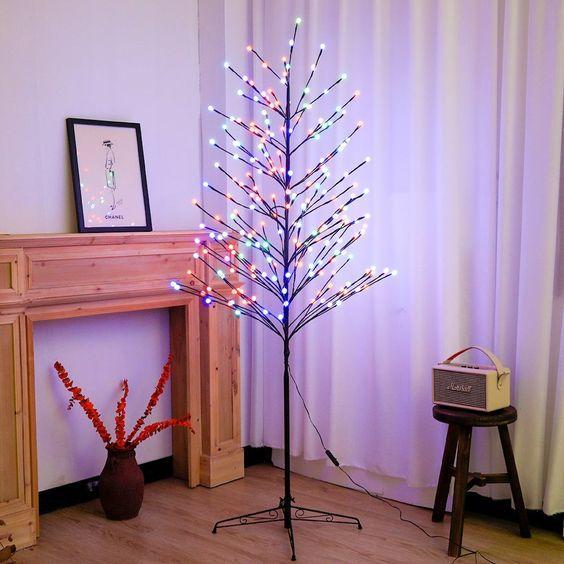 χριστουγεννιάτικα δέντρα-με-φωτάκια LED-τάσεις-2021 2022-