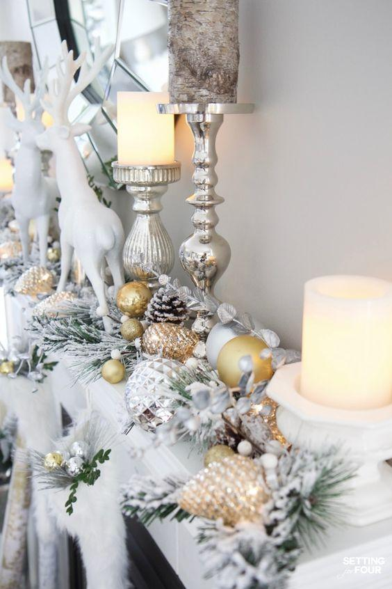 ασημί-κηροπήγια-και-ασημί-χριστουγεννιάτικα-στολίδια-σε-ασημί-χρώμα-ιδέες-