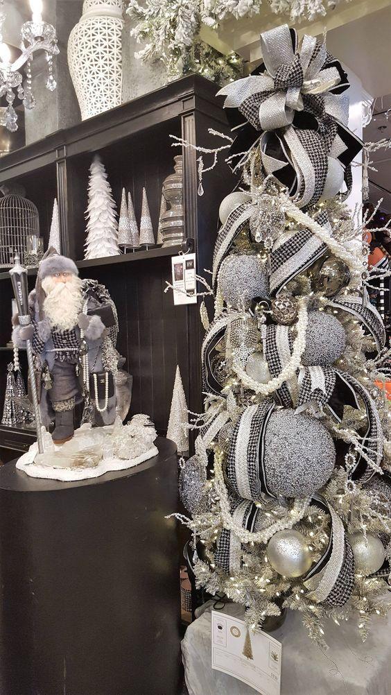 ασημί-χριστουγεννιάτικη διακόσμηση-για-το-2021 2022-τάσεις-