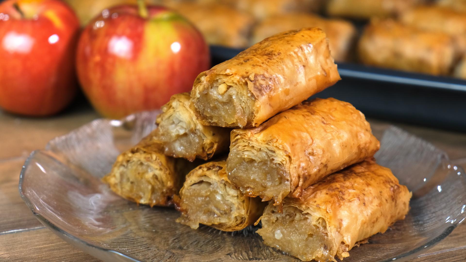 Μπακλαβαδάκια-με-μήλο-συνταγή-
