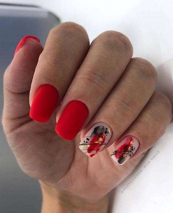 κόκκινα-νύχια-με-σχέδια-για-τον-Οκτώβριο-