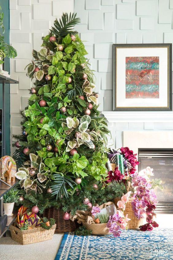 botanical-χριστουγεννιάτικη διακόσμηση-χριστουγεννιάτικες τάσεις-2021 2022-