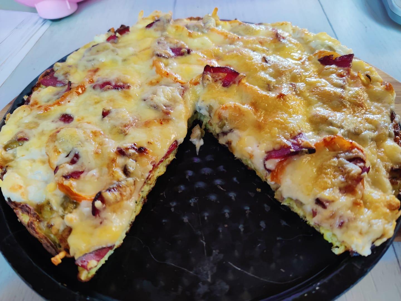 Βάση για πίτσα χωρίς αλεύρι (Από κολοκυθάκια)
