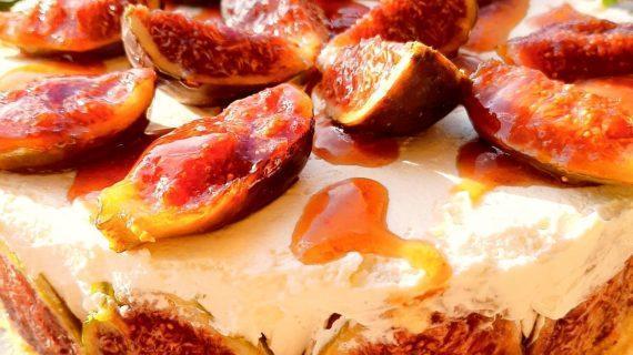 Cheesecake -με- καραμελωμένα- σύκα-