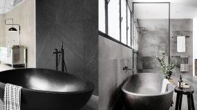 Μαύρη μπανιέρα: 15 μοντέρνες ιδέες με μαύρες μπανιέρες στο μπάνιο